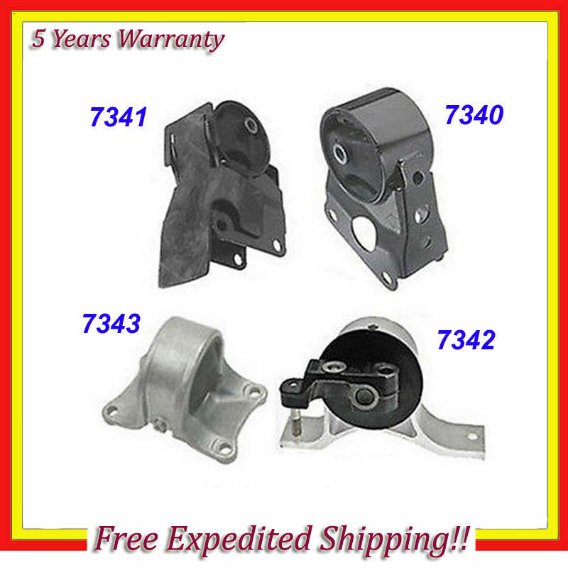 engine motor trans mount set 4pcs 2002 2006 nissan. Black Bedroom Furniture Sets. Home Design Ideas