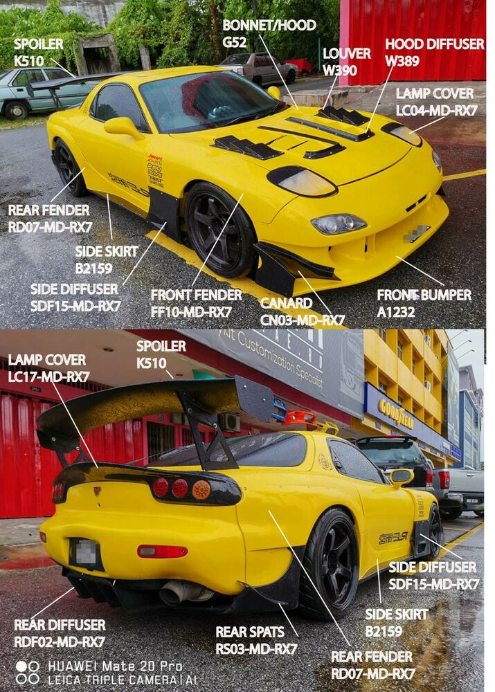 mazda rx7 fast and furious body kit. mazda rx7 re amemiya ad gt style full wide body kit rx7 fast and furious