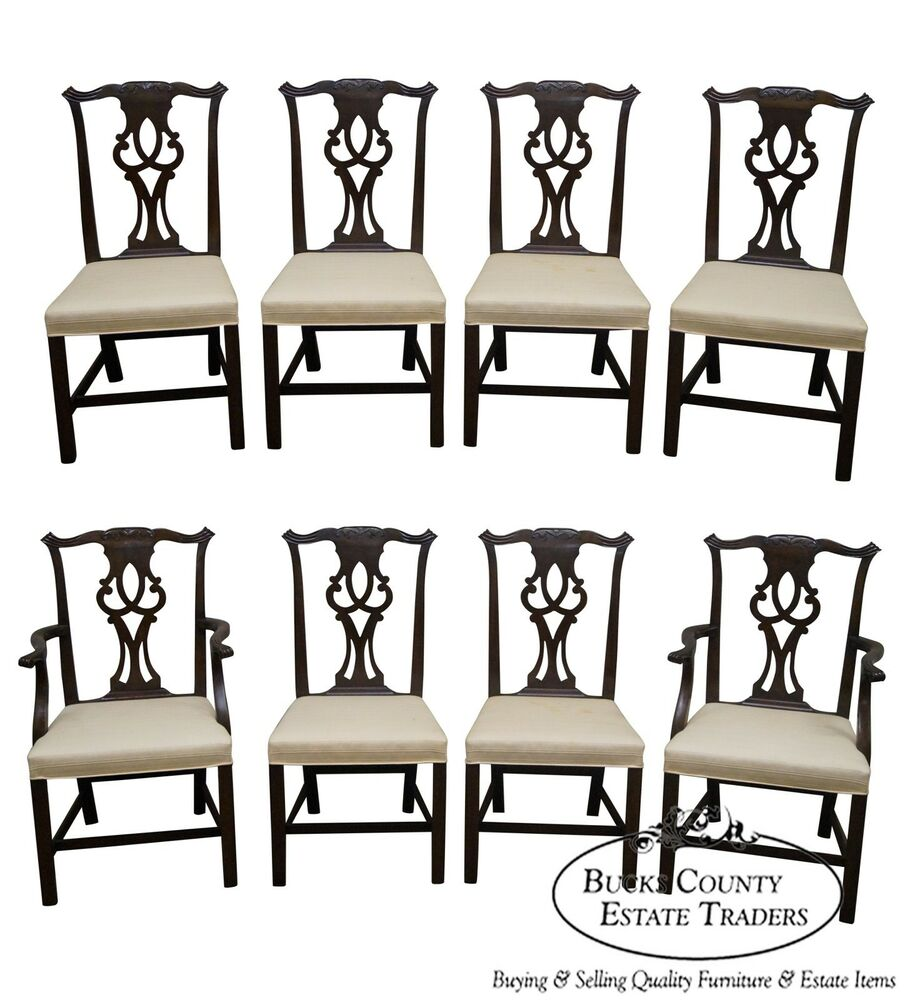 Kittinger Solid Mahogany Set of 8 Chippendale Style Dining  : s l1000 from www.ebay.com size 905 x 1000 jpeg 106kB