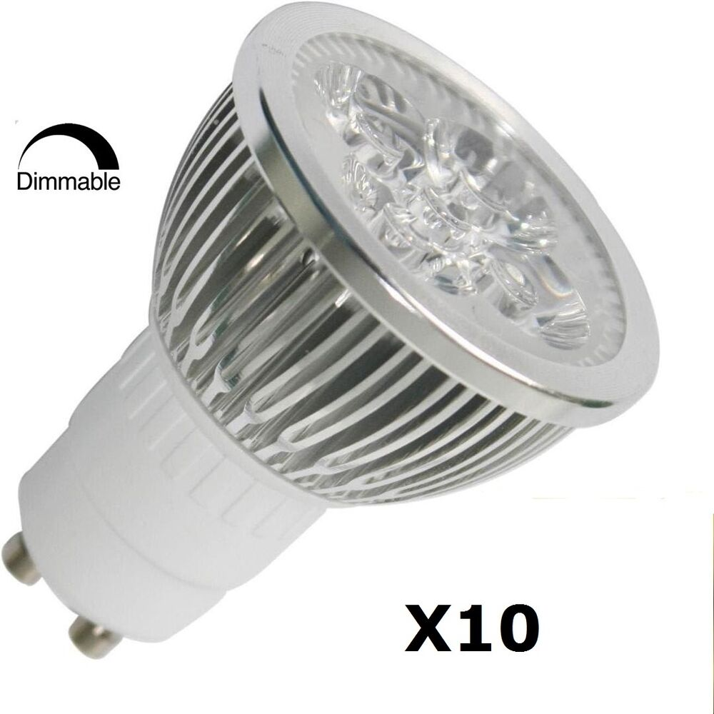 10pcs pack dimmable gu10 4w 3200k led spot light 45 view angle 50w equivalent ebay. Black Bedroom Furniture Sets. Home Design Ideas