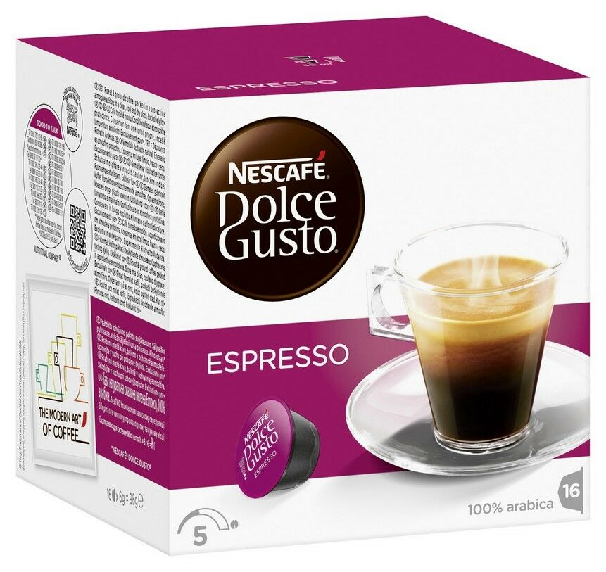 nescafe dolce gusto espresso 16 capsules ebay. Black Bedroom Furniture Sets. Home Design Ideas