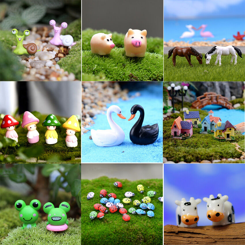 Diy new figurine art craft plant pot ornament miniature for Garden ornaments and accessories