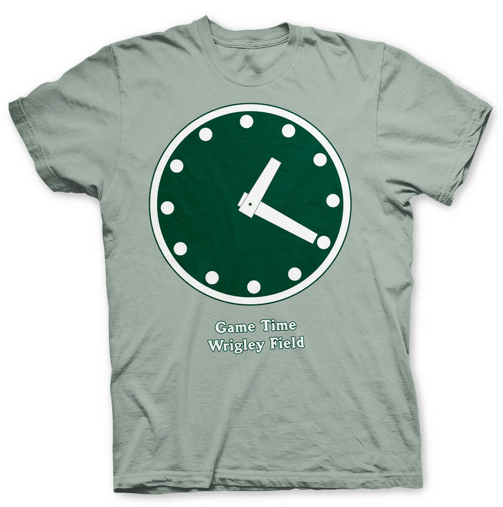 ae8559a1a Details about WRIGLEY FIELD SCOREBARD CLOCK T SHIRT - 1:20 IS CHICAGO CUBS  GAME TIME!
