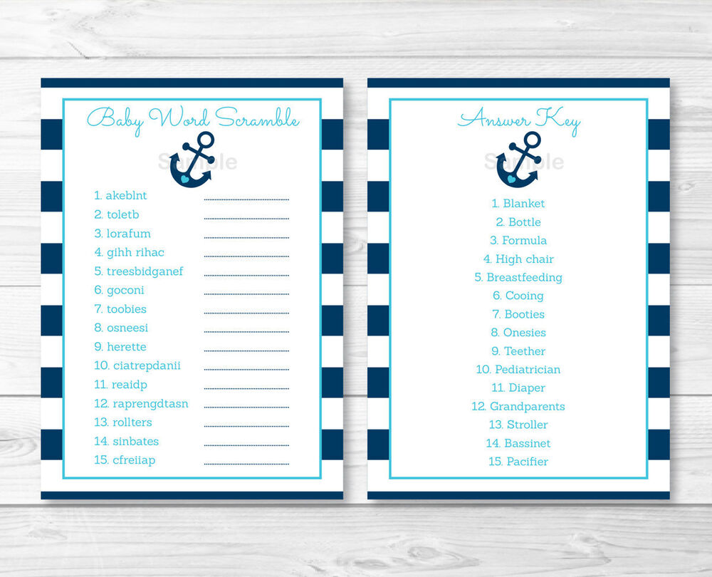 Satisfactory image pertaining to free printable baby shower word scramble