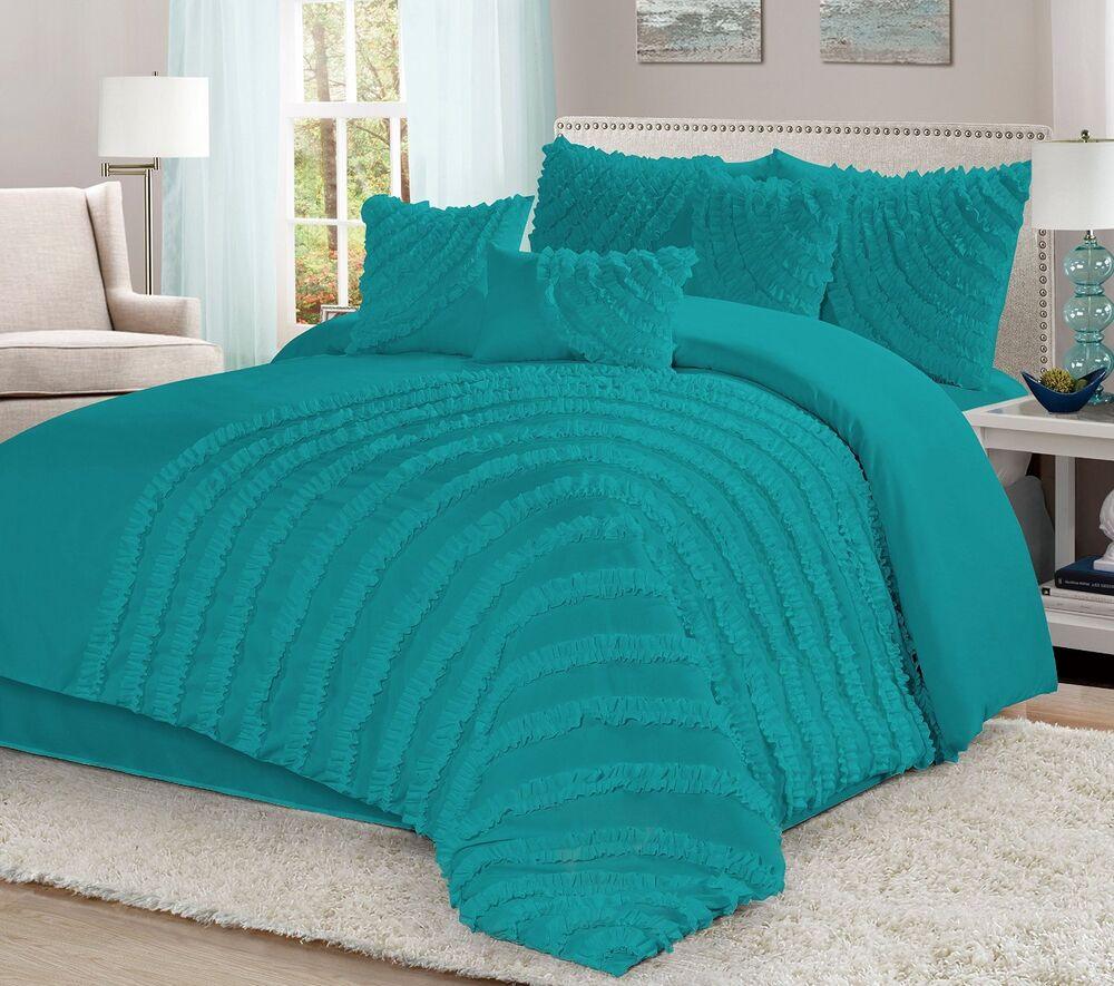 Homechoice 7 Piece Hillary Bed In A Bag Ruffle Pleated