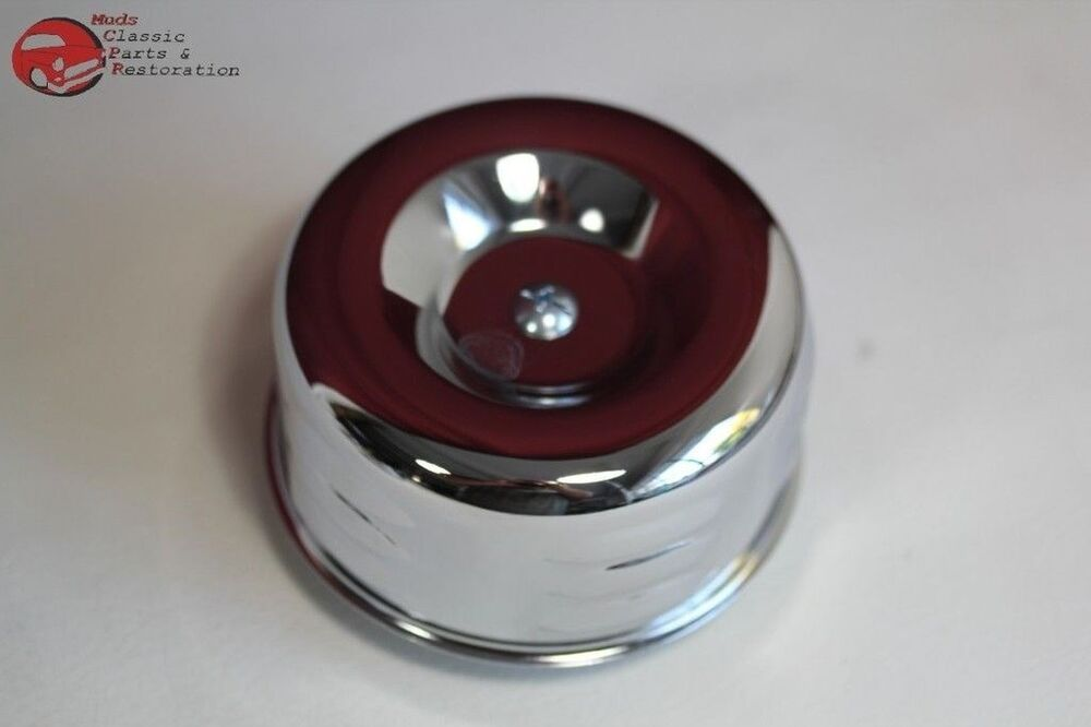 Built Rat Rod Air Cleaner : Louvered chrome hot rat rod style air cleaner barrel