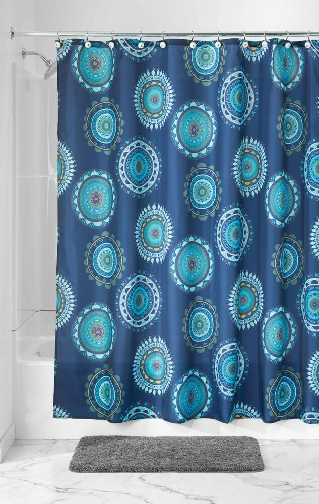 Kitchen Curtains Fabric Curtains Fabric Stripe Drapes: Striped Fabric Shower Curtain Color Blue Green