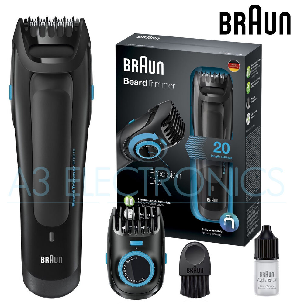 braun bt5010 electric travel mens beard trimmer precision dial fully washable ebay. Black Bedroom Furniture Sets. Home Design Ideas