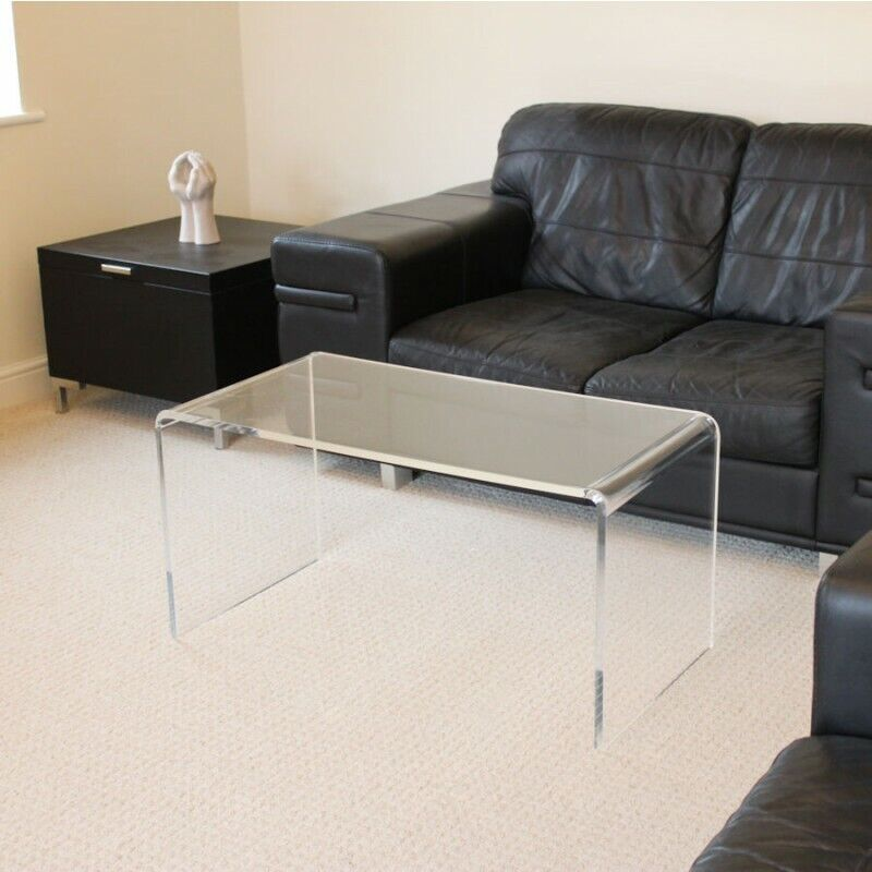 Clear acrylic plastic table coffee table quality 12mm for Clear lucite acrylic coffee table