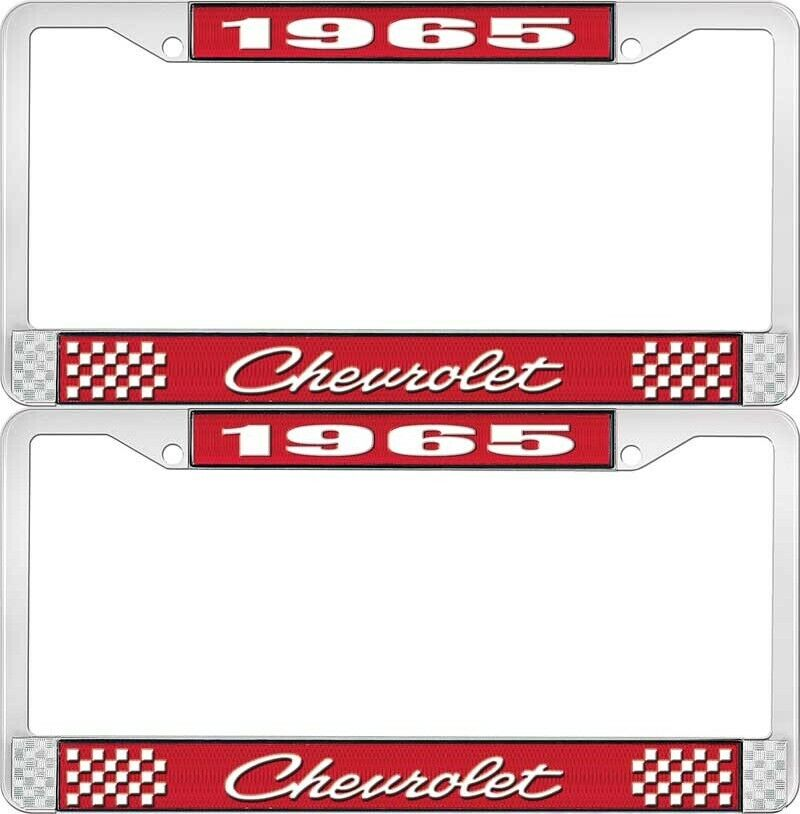 1965 Chevy Chevrolet Gm Licensed Front Rear Chrome License