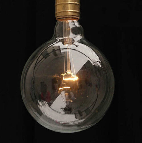 1 Vintage Super Large G125d Edison Cage Antique Light Bulb