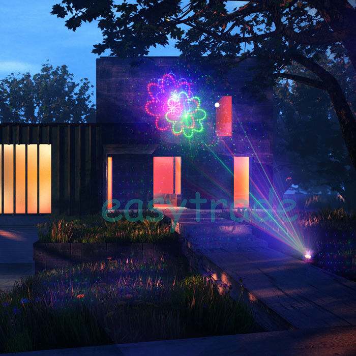 Outdoor Laser Light 20 Patterns Rgb Lighting Projector