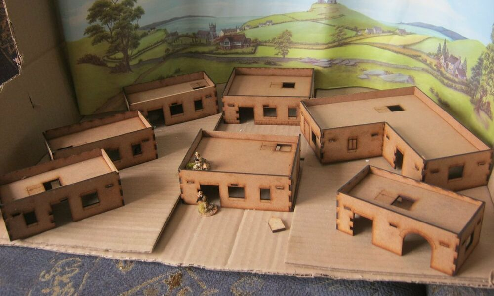 20mm Adobe Desert African House 2mm MDF laser Cut Scenery ...