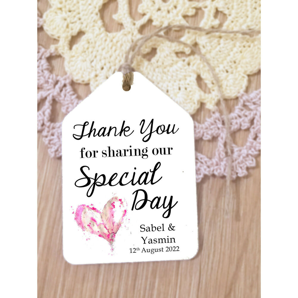 Thank You For Sharing Our Special Day Wedding Favour Luggage Tags