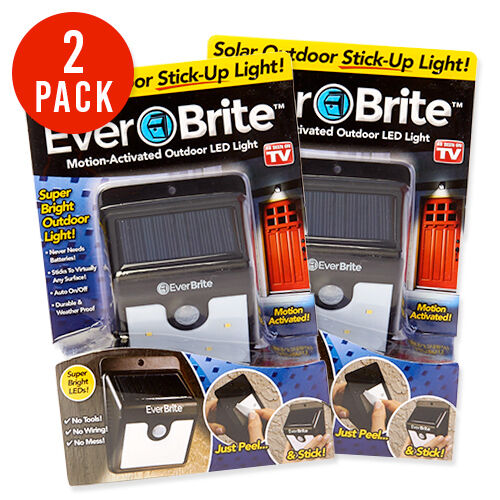 2 Everbrite Solar Porch Lights Outdoor Motion Activated