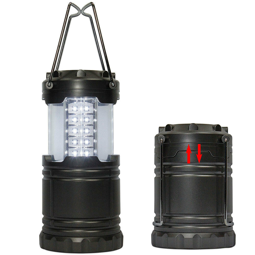 30 led collapsible ultra bright camping lantern led camping light ebay. Black Bedroom Furniture Sets. Home Design Ideas