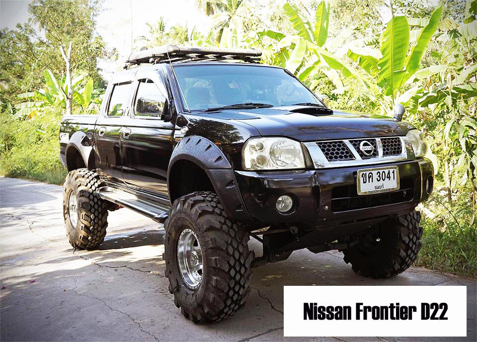 jungle offroad fender flares wheel arch for nissan frontier navara d22 1997 2015 ebay. Black Bedroom Furniture Sets. Home Design Ideas