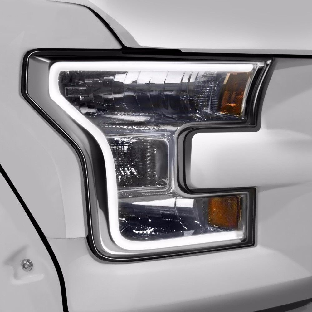 oracle lighting 2396 001 white led drl headlight accent for ford f150 2015 16 ebay. Black Bedroom Furniture Sets. Home Design Ideas