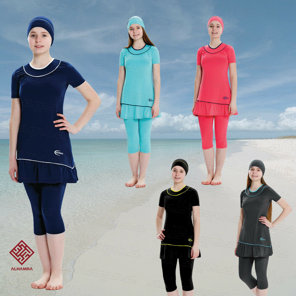 f125e33bd9 Details about AlHamra Teenage Girls Modest Burkini Swimwear Swimsuit Muslim  - 5066 Age 11-16