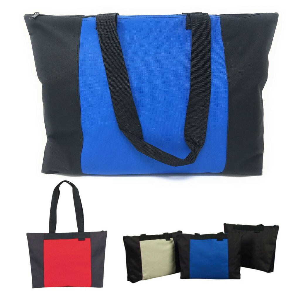 large zippered reusable heavy duty grocery shopping tote