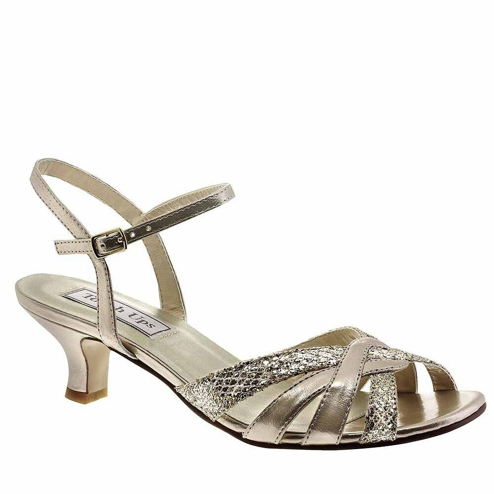 High Heel Shoes Silver Strappy