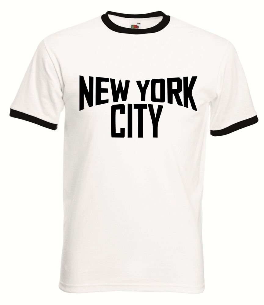 New York City Ringer T Shirt Retro John Classic T Shirt