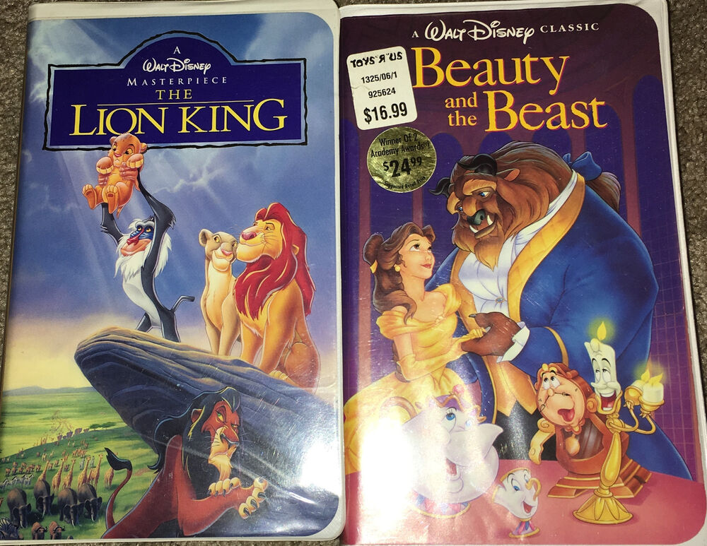 the lion king vhs  1995  u0026 beauty and the beast  1992