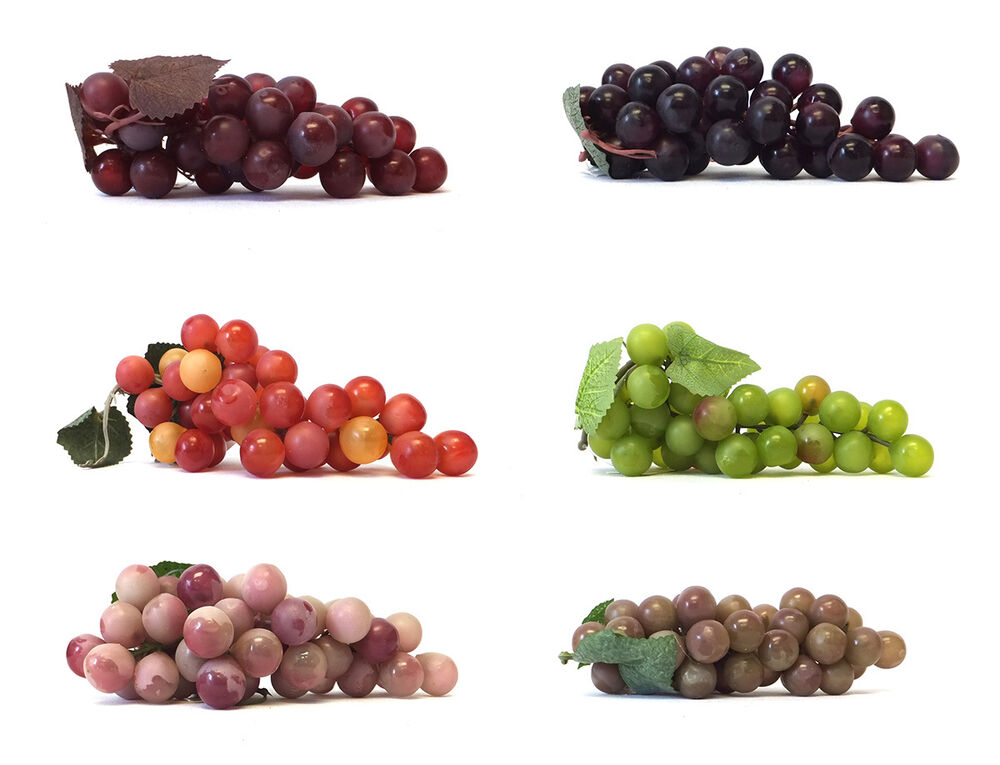 Artificial Grape Cluster 7 Inch Plastic Decorative Grapes