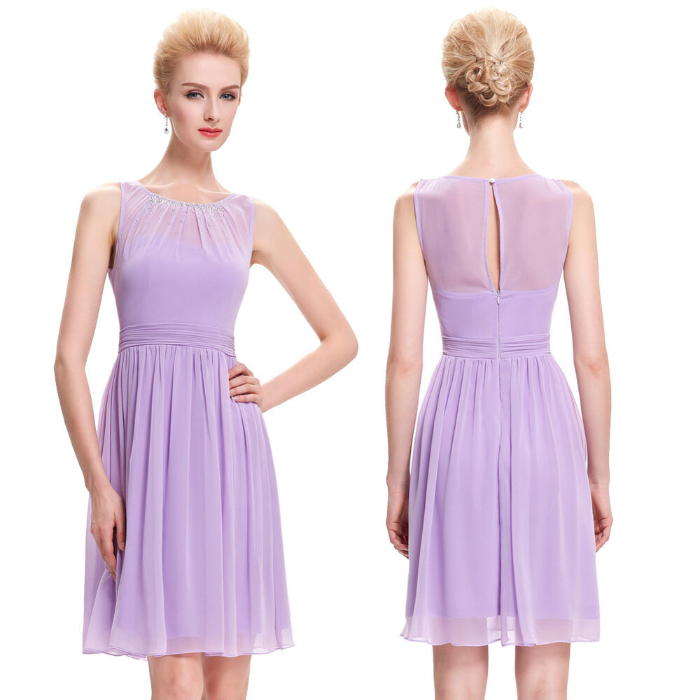 Womens short cocktail evening party mauve bridesmaid for Formal summer dresses for weddings