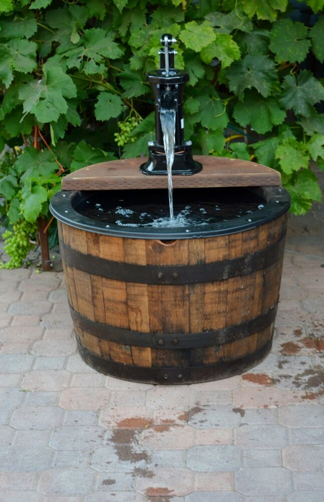 1 2 Barrel Fountain Whiskey Old Fashion Hand Pump Black