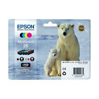 MULTIPACK 4x CARTOUCHEs EPSON 26 NOIRE + MAGENTA + CYAN JAUNE / ours blanc t2616