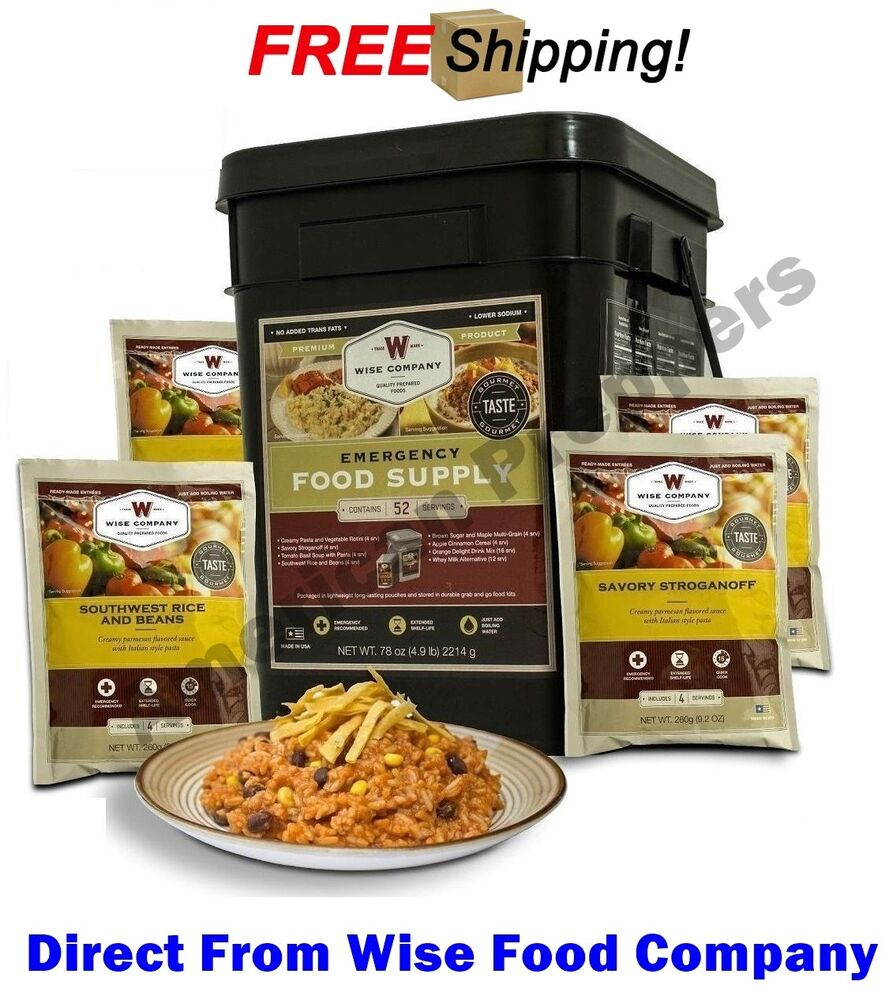 wise food company 52 servings emergency food supply prepper pack martlocal. Black Bedroom Furniture Sets. Home Design Ideas