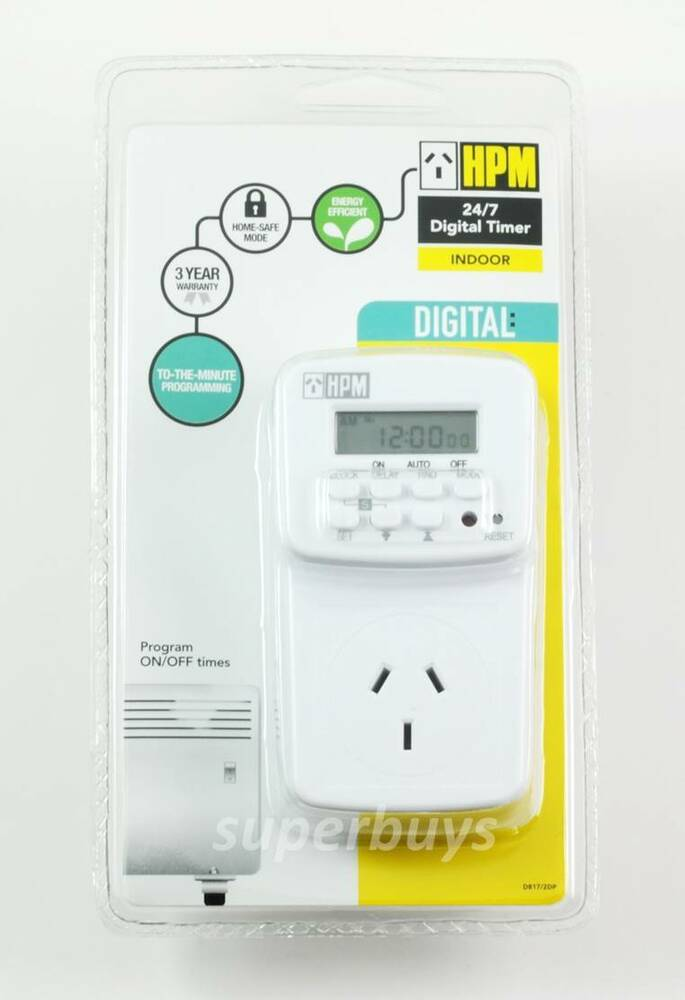 Details About Hpm Battery Back Up Digital Electrical Electric Outlet Wall Socket Plug Timer