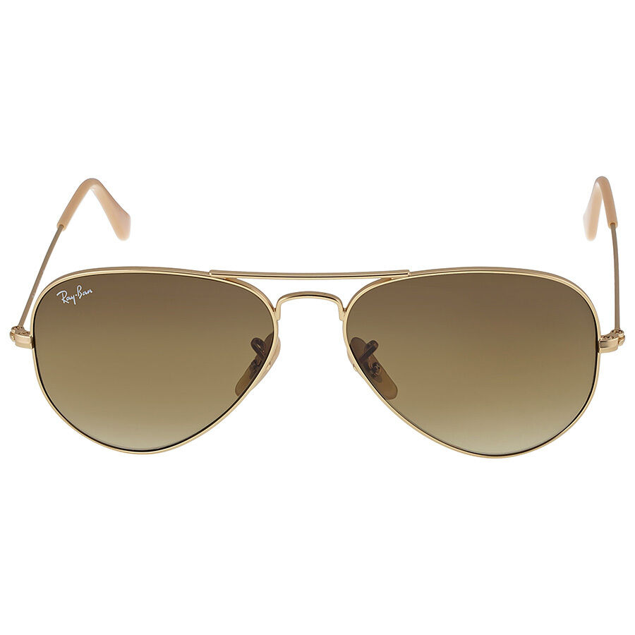 Rb3025 Aviator Sunglasses Gold Frame Crystal Gradient Bl : Ray Ban Original Aviator Matte Gold Brown Gradient ...