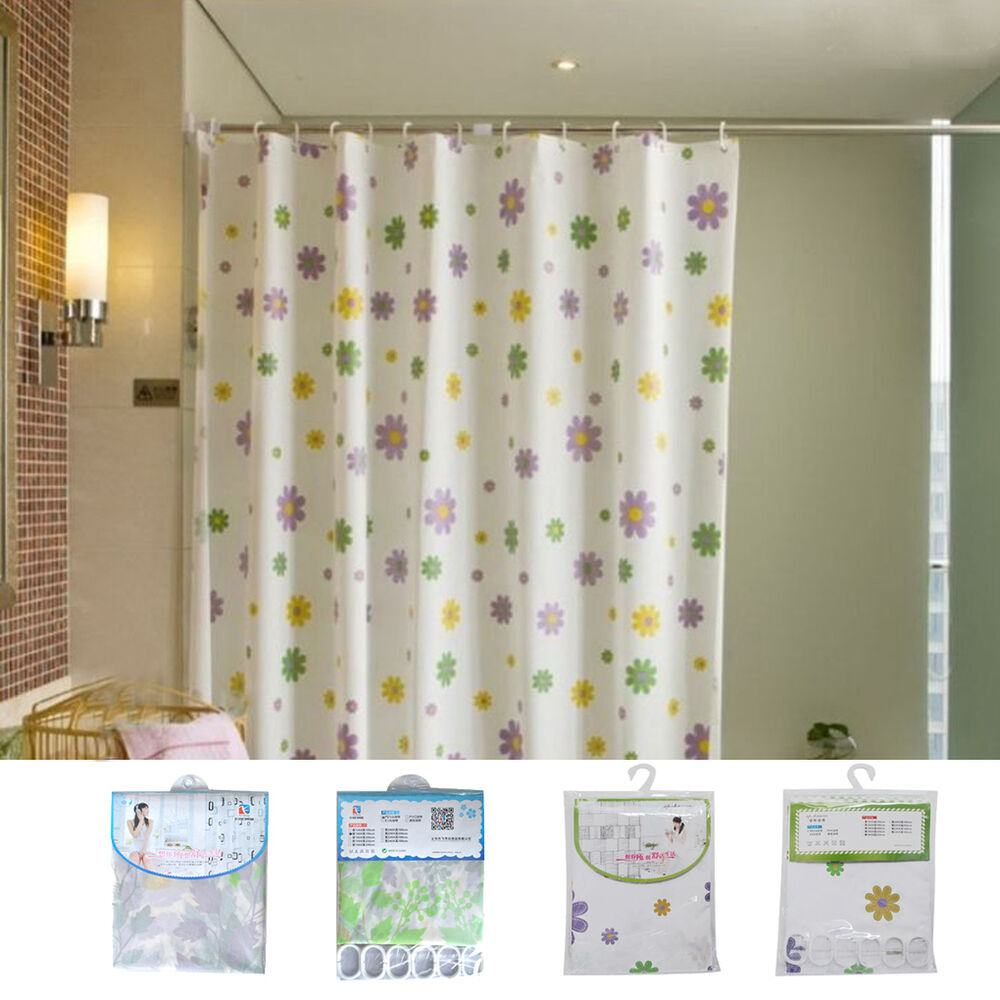 New Waterproof Mouldproof Frosted Transparent Thick Shower Curtain Ebay