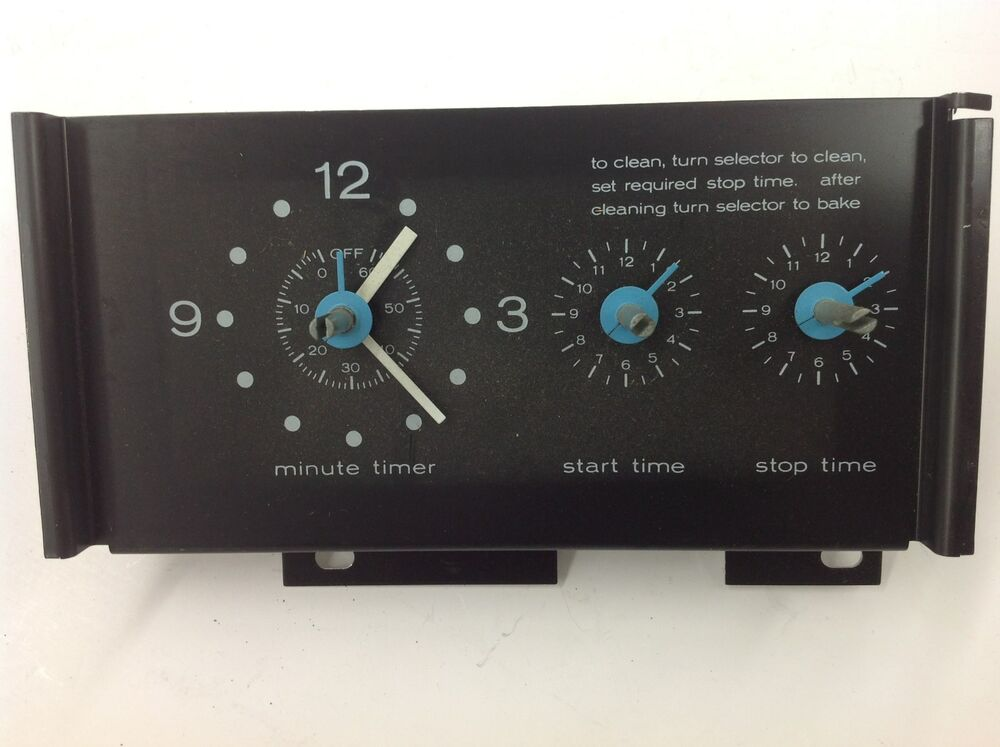 Technic Electric Oven Timer ~ Vintage stove parts corning electric range clock