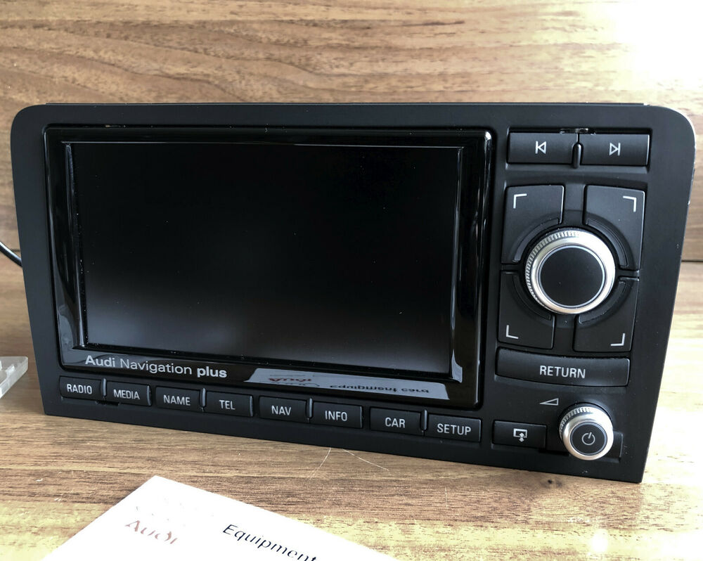 audi rns e audi a3 s3 rs3 navigation system glossy led media dvd 2015 maps oem ebay. Black Bedroom Furniture Sets. Home Design Ideas