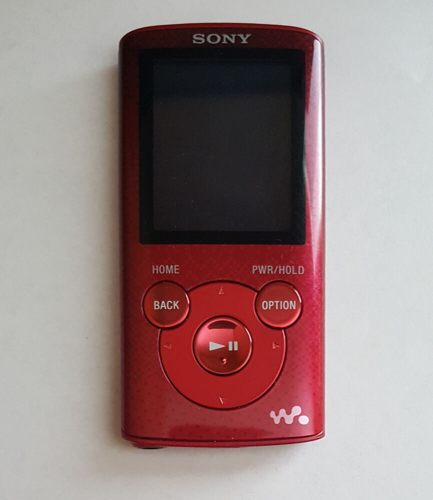 sony nwze383 4 gb walkman mp3 video player 4gb red no. Black Bedroom Furniture Sets. Home Design Ideas