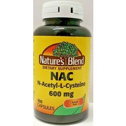 Nature's Blend NAC N-Acetyl-L-Cysteine 600 mg 100ct Capsules -Exp 06-2024