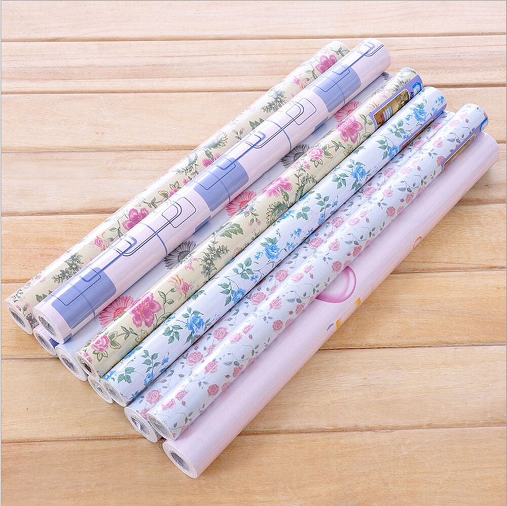 flower contact paper shelf drawer liner self adhesive wallpaper mural xmas decor ebay. Black Bedroom Furniture Sets. Home Design Ideas