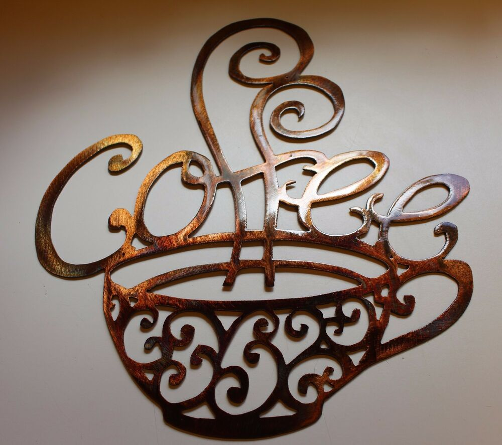 Ornamental Coffee Metal Wall Decor 13 Quot Wide By 15 3 4