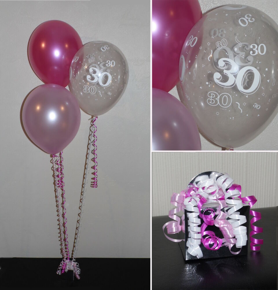 30th birthday balloons diy party decoration kit clusters for Balloon cluster decoration