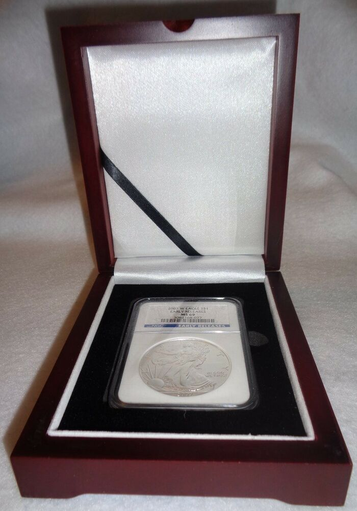 Wood Display Box For 1 Certified Coin Slab Ngc Pcgs Or