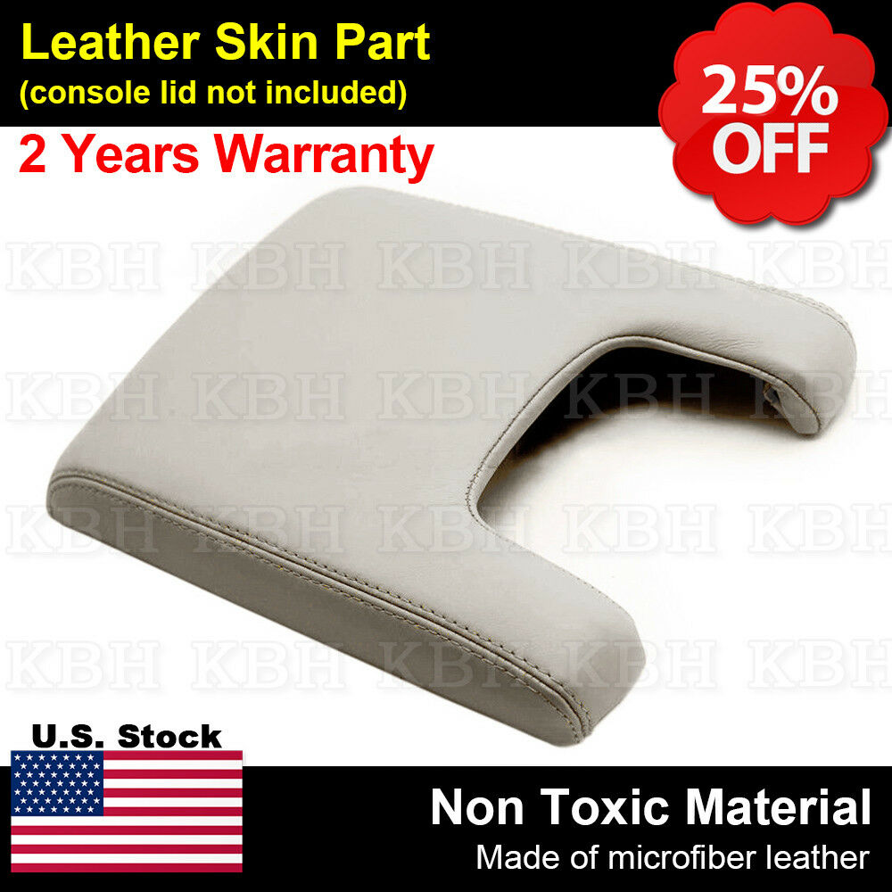 Leather Armrest Center Console Lid Cover Fits For Acura TL