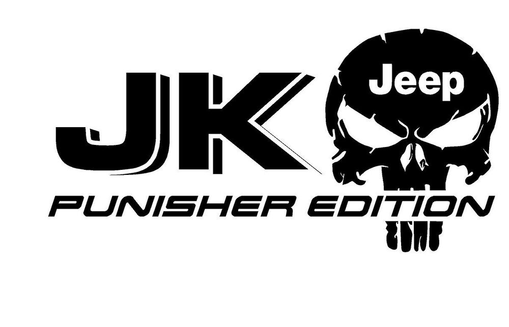 Truck Car Decal 2 Jk Jeep Punisher Edition Vinyl
