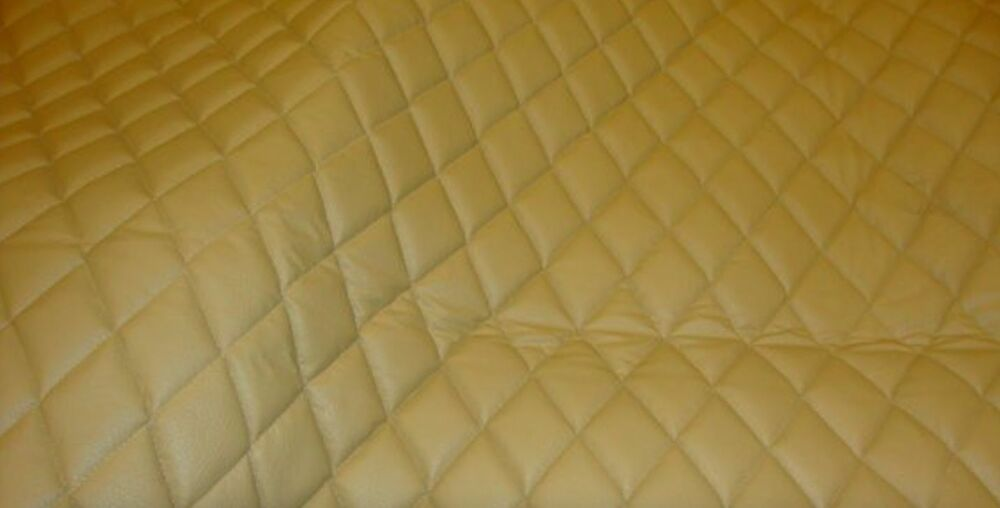Camel Leather Quilted Vinyl Fabric With 3 8 Quot Foam Backing