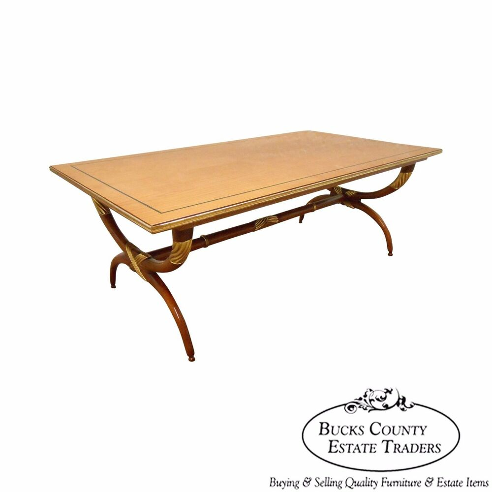 High Quality French Regency Directoire X Base Coffee Table W Gilt Accents Ebay