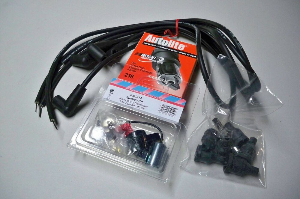 Ford 9n Plug Wires : Tune up kit w wires spark plugs for