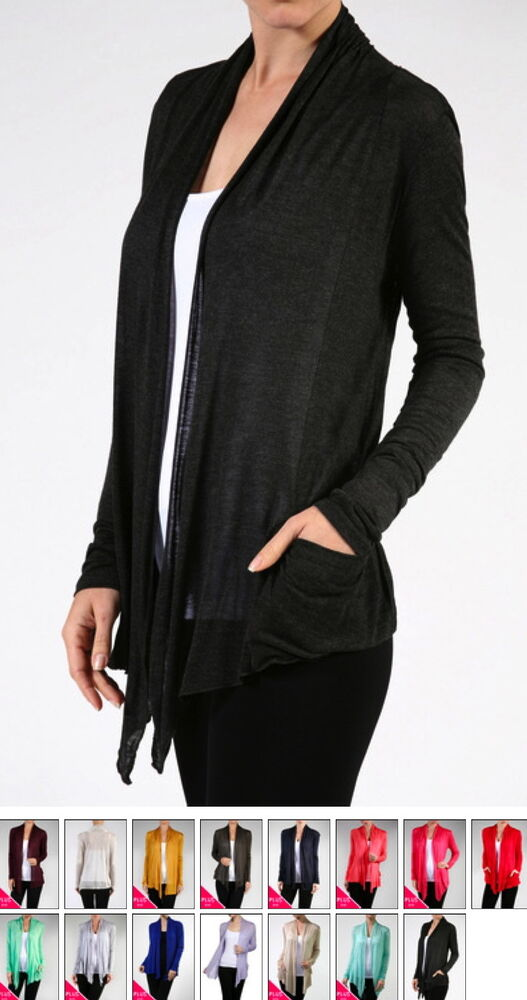 c60c7c6570 Details about NEW Plus Size Light-Weight Semi Sheer Cover Up Jacket Open  Front-L/XL/1X-2X-3X