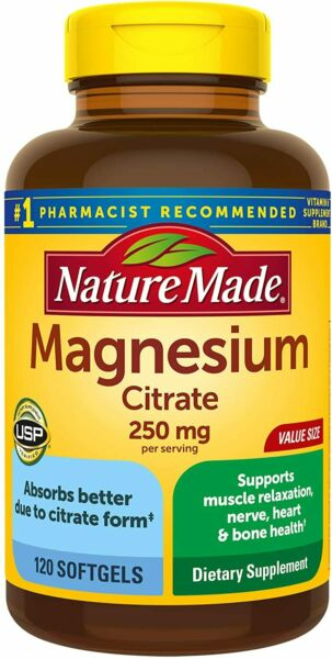 Nature Made Magnesium Citrate 120ct Softgels  -Expiration Date 09-2019-